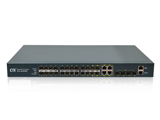 24x 100/1000Base-X SFP with 4x GbE Combo plus 4x (2x) 10GbE SFP+ Core Switch