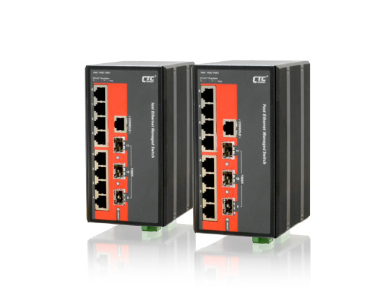 8x 100/1000Base–T+ 3x 100/1000Base–X SFP Managed Switch