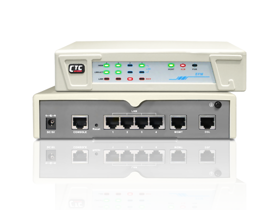 G.SHDSL bis EFM Modem with 4 Ports Ethernet