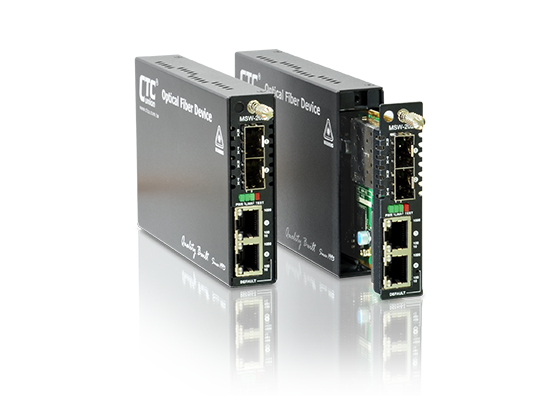Ethernet Switch/NID - 2xGbE, RJ45+2x Dual Rate