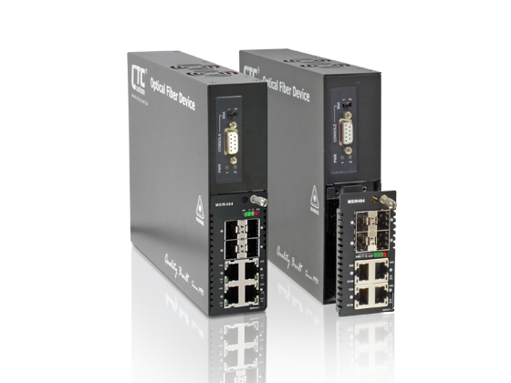 4x GbE, RJ45 + 4x Dual Rate SFP L2+ Carrier Ethernet Switch (NID) with SyncE