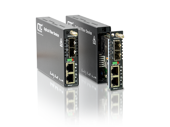 2x 10/100/1000Base-T and 2x 100/1000Base-X SFP OAM/IP GbE Managed Switch