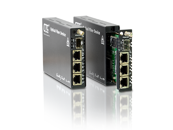 NID/EDD - 3x 10/100Base-TX + 100Base-FX SFP Ethernet Switch