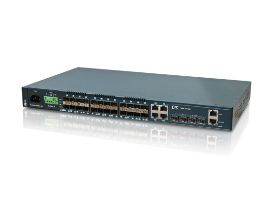 20xGbE, cSFP + 4xGbE combo (RJ45 or cSFP) + 4x 1G/10G, SFP+ L2+ Managed Ethernet Switch