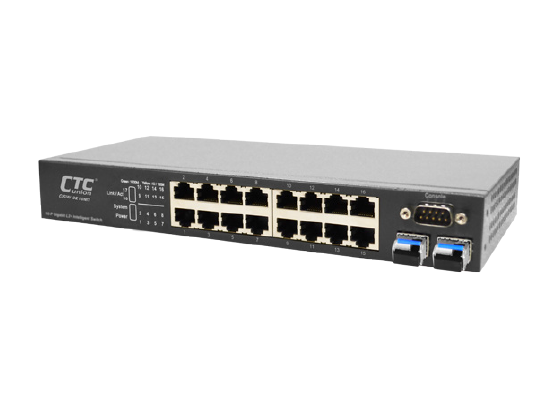 16x GbE, RJ45 + 2x GbE, SFP L2+ Managed Switch