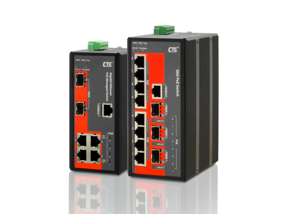 Industrial PoE Managed Switch - 8x 10/100Base-TX+ 3x 100/1000Base-X SFP w/8x PoE+