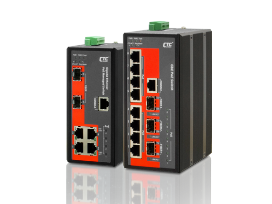 Industrial PoE Managed Switch - 8x 10/100/1000Base-T+ 3x 100/1000Base-X SFP w/8x PoE+