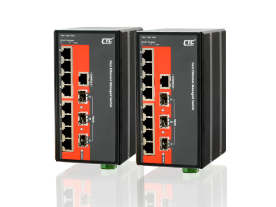 IEC 61850-3 Ethernet Switch - 8x 10/100Base-TX+ 3x 100/1000Base-X SFP