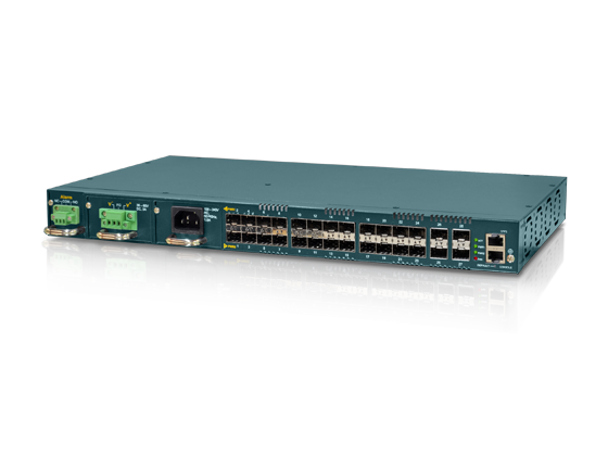 24x GbE, SFP + 4x 10GE (SFP+) L2+ Carrier Ethernet Switch