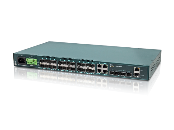 20x GbE, SFP + 4x GbE Combo + 4x 10GbE (SFP+) L2+ Managed Carrier Ethernet Switch