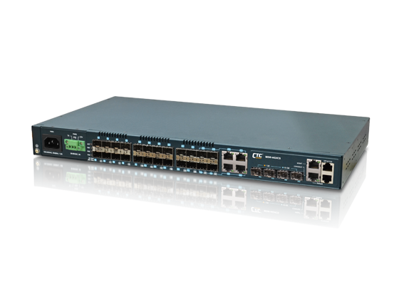 20x GbE, SFP + 4x GbE Combo + 4x 10GE (SFP+) L2+ Managed Carrier Ethernet Switch with SyncE