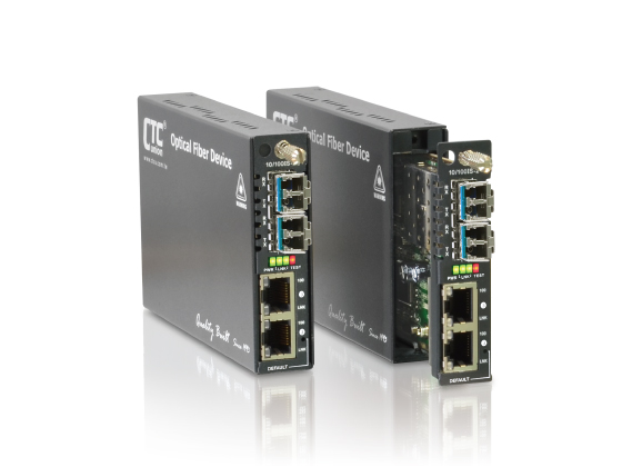 2x 10/100Base-TX + 2x 100Base-FX OAM / IP Managed Switch: FRM220-10/100AS-2
