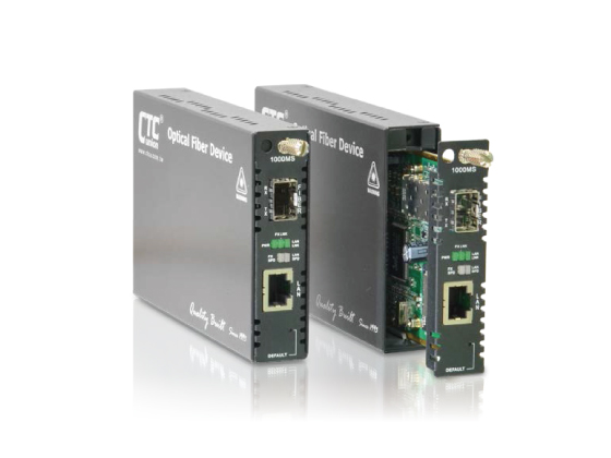 Web Smart OAM Managed 10/100/1000Base-T to 100/1000Base-X SFP GbE Media Converter: FRM220-1000MS