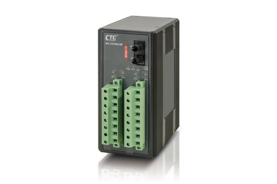 Industrial Contact Closure Fiber Converter: IFC-CCF40
