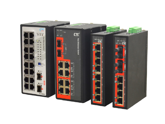 Industrial Unmanaged Fast Ethernet Switch: IFS-1602GS, IFS-802GS, IFS-800, IFS-402F, IFS-401F