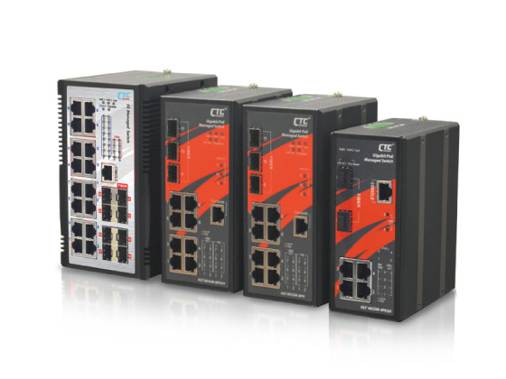 Industrial Managed GbE PoE Switch