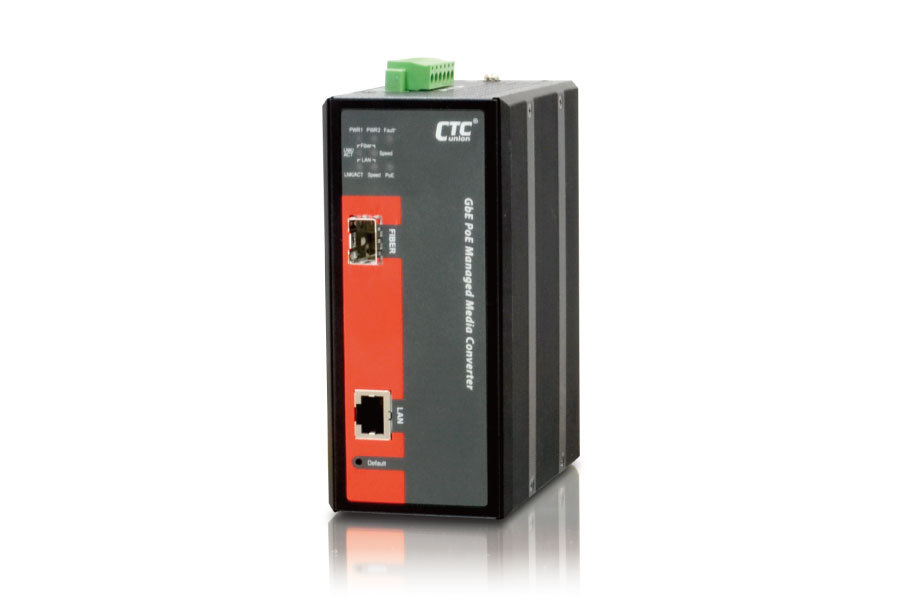 Industrial Managed PoE Converter: IMC-1000MS-PH12