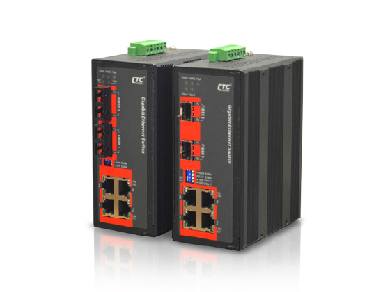 Industrial Unmanaged GbE Switch:IGS-402F, IGS-402S