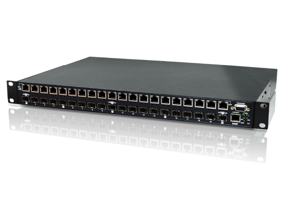 20x 100/1000Base-T to 20x100/1000Base-X SFP Patching Hub